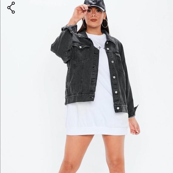 eb498445cc7 Plus oversized washed denim jacket